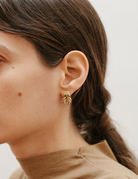Alta Earrings Brass