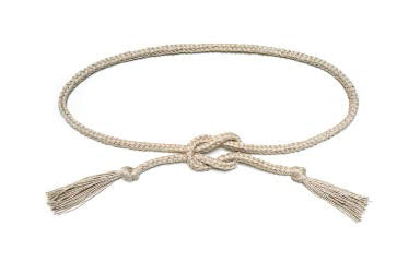 Square Knot Belt Raw Flax