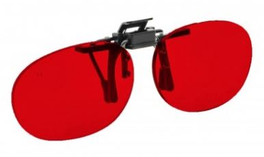 RED LENS EYEWEAR FRAME 16 PEDIATRIC OVAL FLIP UP CLIP ON SKU 1447172538465
