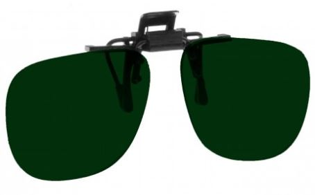 GREEN LENS EYEWEAR FRAME 17 SMALL OVAL FLIP UP CLIP ON SKU 1447249182817