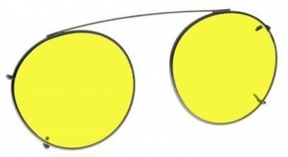 YELLOW LENS EYEWEAR FRAME 18 SMALL HOOK ON SKU 1447281098849