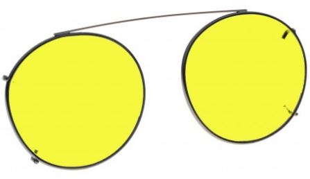 YELLOW LENS EYEWEAR FRAME 19 MEDIUM HOOK ON 1447282966625