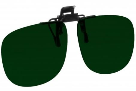 GREEN LENS EYEWEAR FRAME 21 LARGE & TALL OVAL FLIP UP CLIP ON SKU 1447262126177