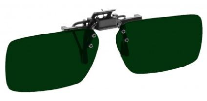 GREEN LENS EYEWEAR FRAME 22 LARGE & SHORTEST RECTANGULAR FLIP UP CLIP ON SKU 1447273201761