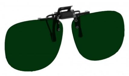 GREEN LENS EYEWEAR FRAME 23 MEDIUM OVAL FLIP UP CLIP ON SKU 1447254753377