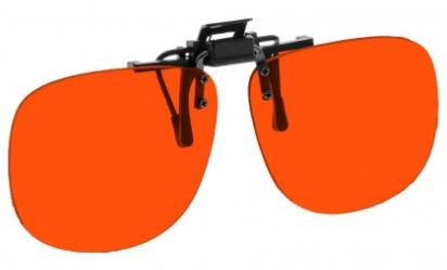 ORANGE LENS EYEWEAR FRAME 23 MEDIUM OVAL FLIP UP CLIP ON SKU 1447253704801