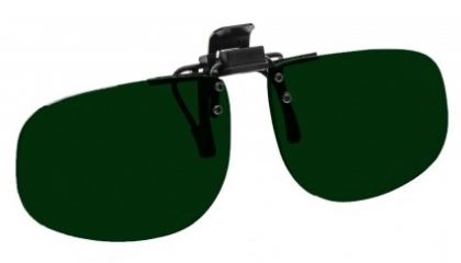 GREEN LENS EYEWEAR FRAME 24 LARGE & SHORT OVAL FLIP UP CLIP ON SKU 1447270678625