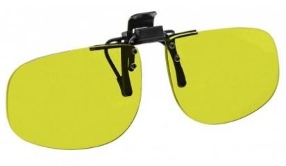 YELLOW LENS EYEWEAR FRAME 24 LARGE & SHORT OVAL FLIP UP CLIP ON SKU 1447270252641