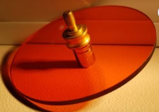 1 Magnet hold for 2 or 4 inch Circle Octagon or Square w Finial Option ORANGE LAMP FILTER