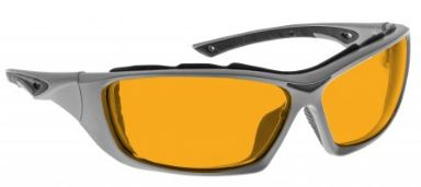 ORANGE LENS Dim Light Melatonin Onset Eyewear frame 44 BLACK Wrap Around Style with Prescription Insert MEDIUM/LARGE SKU 248790646813