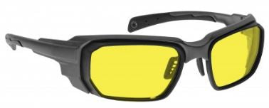 YELLOW LENS Dim Light Melatonin Onset Eyewear frame 46 BLACK Wrap Around Style MEDIUM/LARGE SKU 252531048477