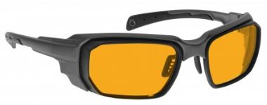 ORANGE LENS Dim Light Melatonin Onset Eyewear frame 46 BLACK Wrap Around Style MEDIUM/LARGE SKU 252528001053