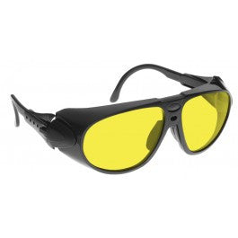 YELLOW LENS Dim Light Melatonin Onset Eyewear frame 32 BLACK Wrap Around Style MEDIUM SKU 8281044039