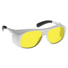 YELLOW LENS Dim Light Melatonin Onset Eyewear frame 33W WHITE Fit-Over Style MEDIUM/LARGE SKU 8281211527