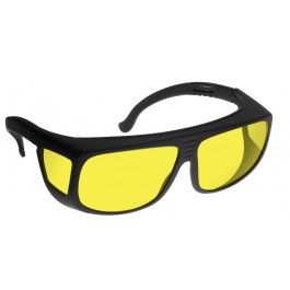 YELLOW LENS Dim Light Melatonin Onset Eyewear frame 36 BLACK Fit-Over Style MEDIUM SKU 8282086407