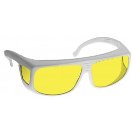 YELLOW LENS Dim Light Melatonin Onset Eyewear frame 38W WHITE Fit-Over Style LARGE SKU 8282345735