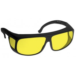 YELLOW LENS Dim Light Melatonin Onset Eyewear frame 38 BLACK Fit-Over Style LARGE SKU 8282607495