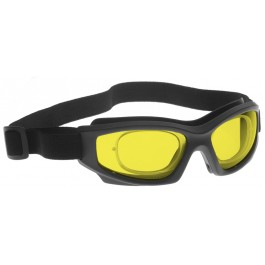 YELLOW LENS Dim Light Melatonin Onset Eyewear frame 50 BLACK Wrap Around Goggle SMALL-LARGE SKU 8282867335