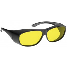 YELLOW LENS Dim Light Melatonin Onset Eyewear frame 51 BLACK Fit-Over Style MEDIUM SKU 8283686791