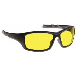 YELLOW LENS Dim Light Melatonin Onset Eyewear frame 52 BLACK Wrap Around Style LARGE SKU 8284182407