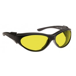 YELLOW LENS Dim Light Melatonin Onset Eyewear frame 56 BLACK Wrap Around Style MEDIUM SKU 8285143559