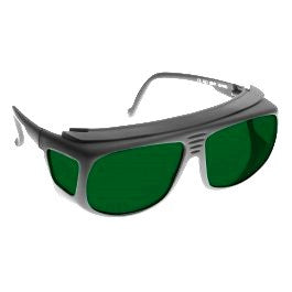 GREEN LENS MIGRAINE RELIEF Eyewear frame 31 BLACK Deep Fit-Over Style SMALL