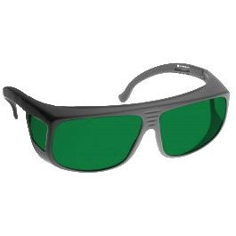 GREEN LENS MIGRAINE RELIEF Eyewear frame 38 BLACK Fit-Over Style LARGE