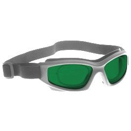 GREEN LENS MIGRAINE RELIEF Eyewear frame 50 BLACK Wrap Around Goggle with PRESCRIPTION INSERT SMALL-LARGE