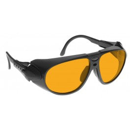 ORANGE LENS Dim Light Melatonin Onset Eyewear frame 32 BLACK Wrap Around Style MEDIUM SKU 568239169