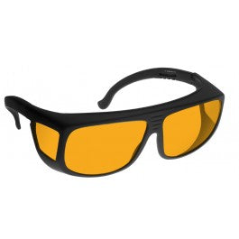 ORANGE LENS Dim Light Melatonin Onset Eyewear frame 36 BLACK Fit-Over Style MEDIUM SKU 570998465