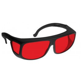 RED LENS Dim Light Melatonin Onset Eyewear frame 36 BLACK Fit-Over Style MEDIUM SKU 7750160327