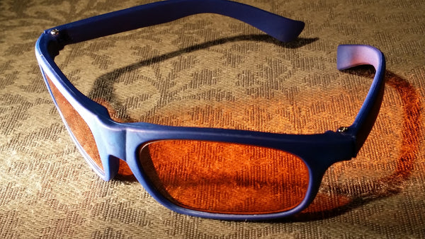ORANGE LENS Melatonin Onset Eyewear frame 14 BLUE Infant Softie Toddler SMALL