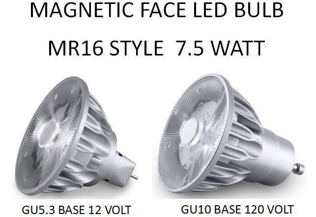LED Bulb with MAGNETIC FACE MR16 Style 10, 25, 36 or 60 DEGREE BEAM