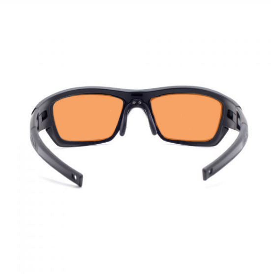ORANGE LENS J136 BLACK Wrap Around Style MED/LARGE SKU 4429506183265