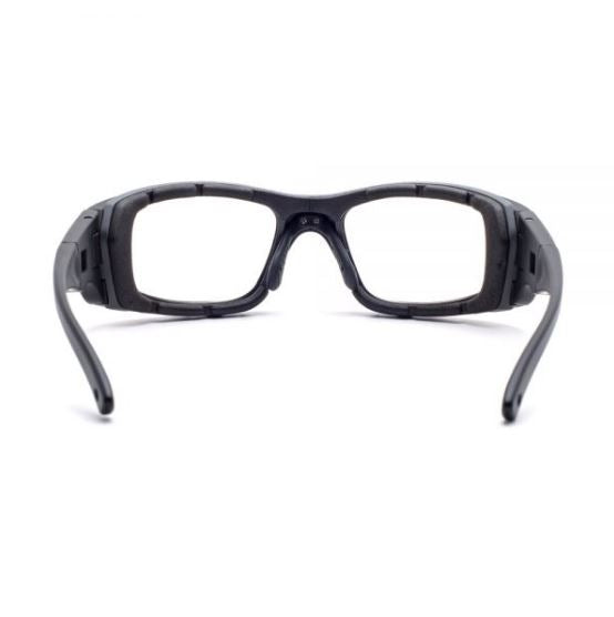 ORANGE LENS JY7 BLACK Wrap Around Style SMALL/MED SKU 4423225639009