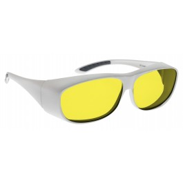 YELLOW LENS Dim Light Melatonin Onset Eyewear frame 53W WHITE Fit-Over Style LARGE SKU 8284656263