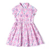 Button Dress Pink Floral