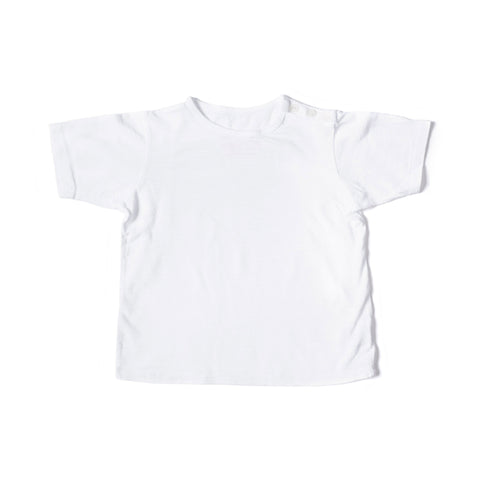 Button Short Sleeve Tee White