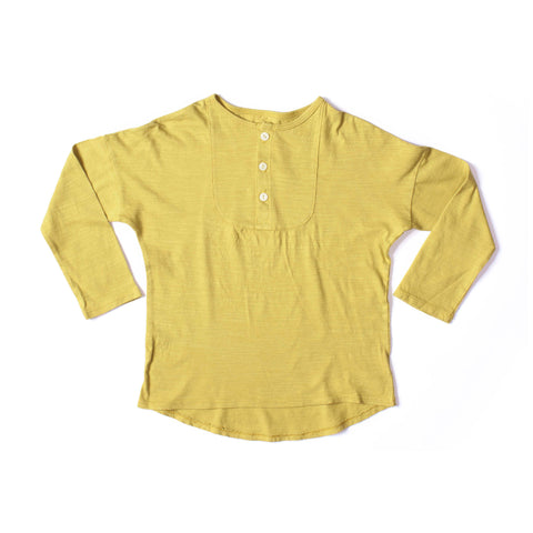 Long Sleeve Henley Mustard