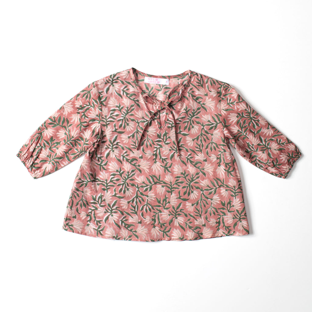 Tie Blouse Fall Flower