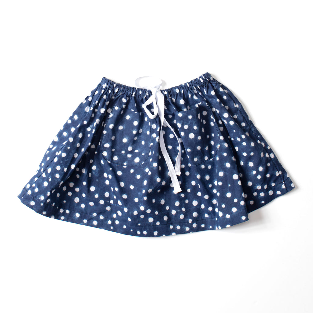 Twirl Skirt Indigo Dot