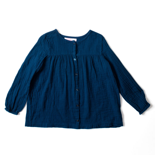 Button Blouse Indigo