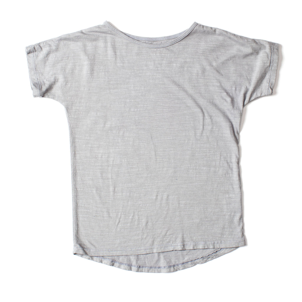 Simple Short Sleeve Tee Silver Gray