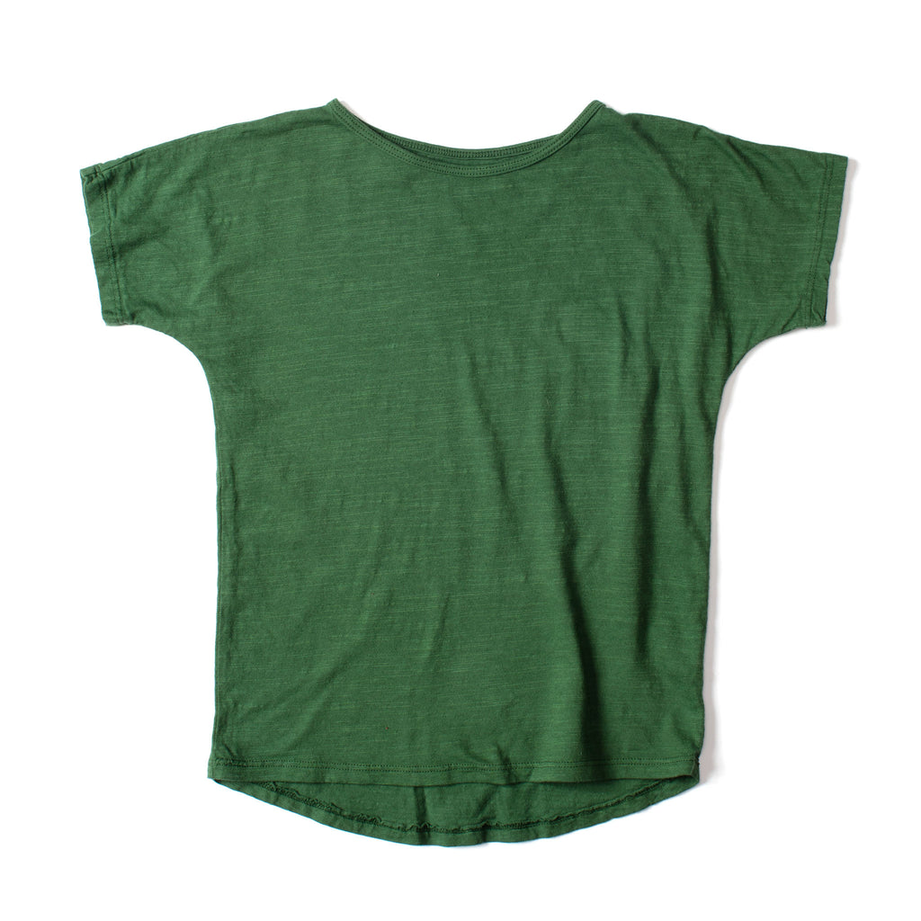Simple Short Sleeve Tee Deep Green