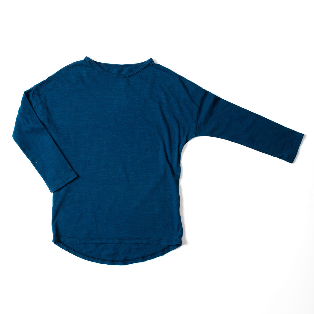 Simple Long Sleeve Tee Indigo