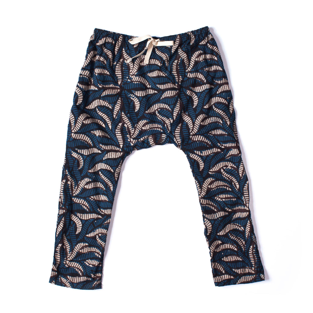 Play Pant Blue Leaf