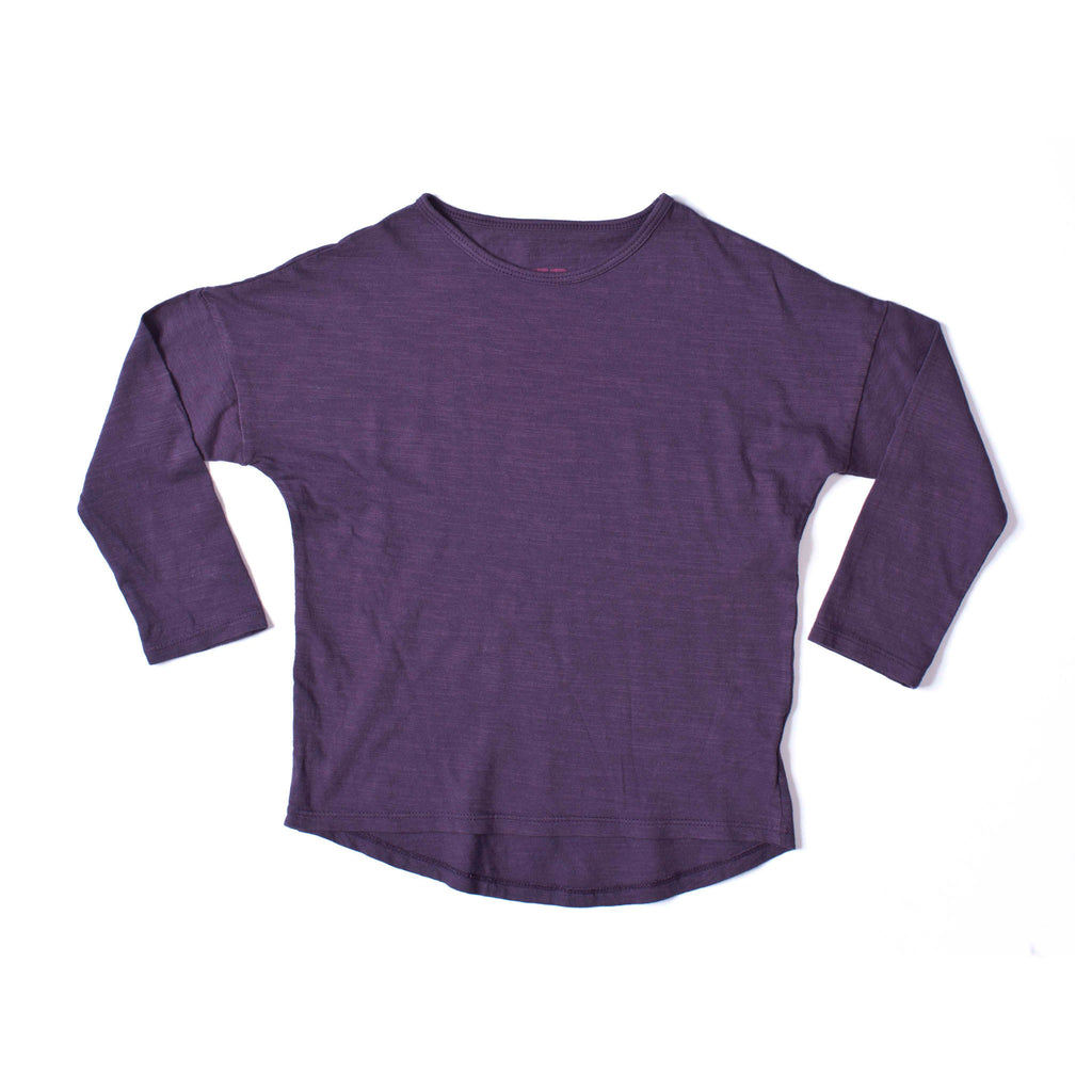 Simple Long Sleeve Tee Grape