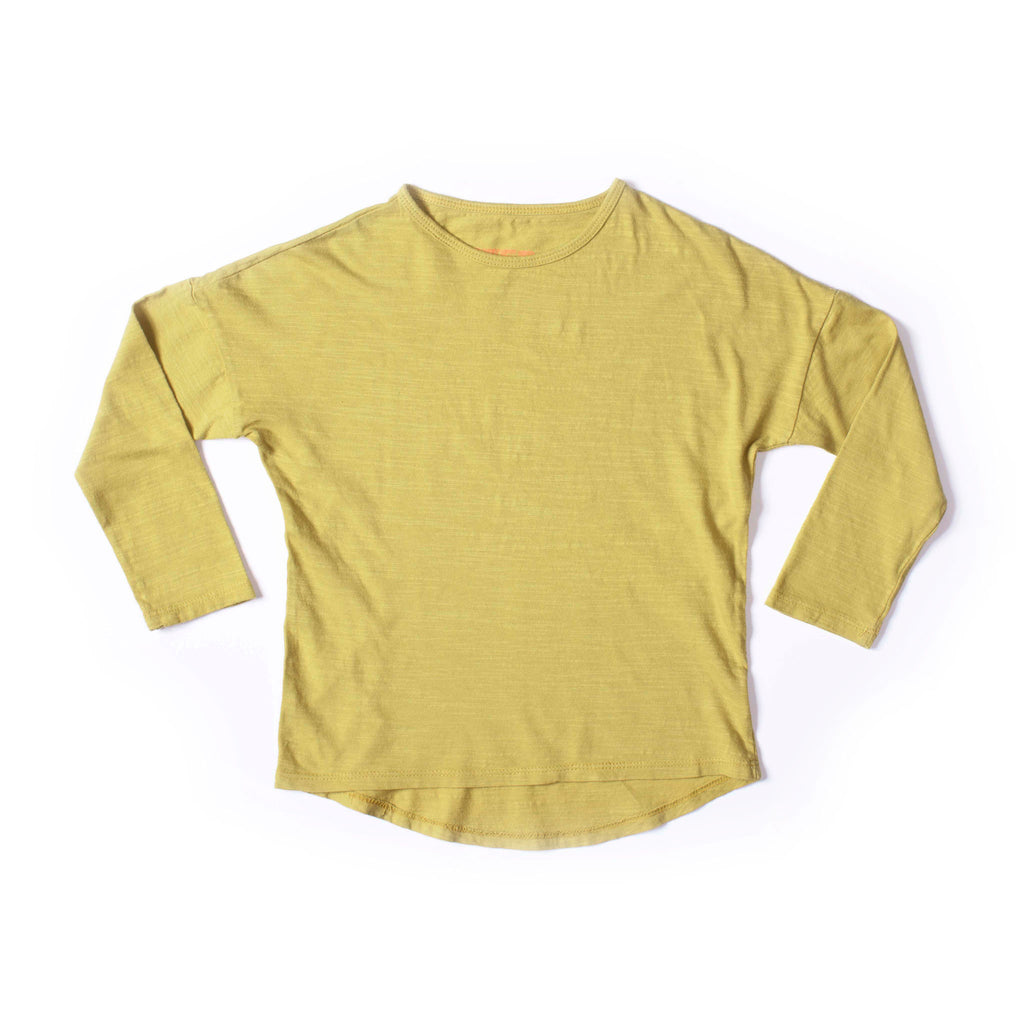Simple Long Sleeve Tee Mustard