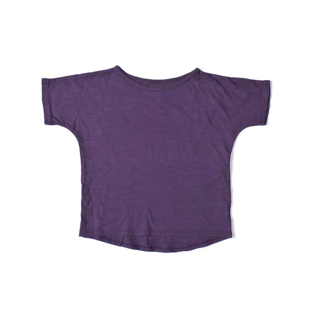 Simple Short Sleeve Tee Grape