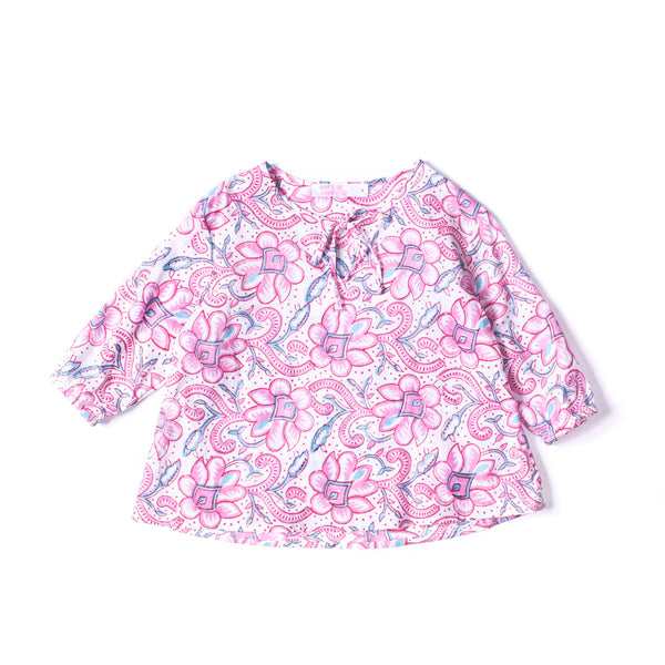 Tie Blouse Pink Floral